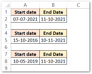 DATEDIF formula in Excel other units raw data