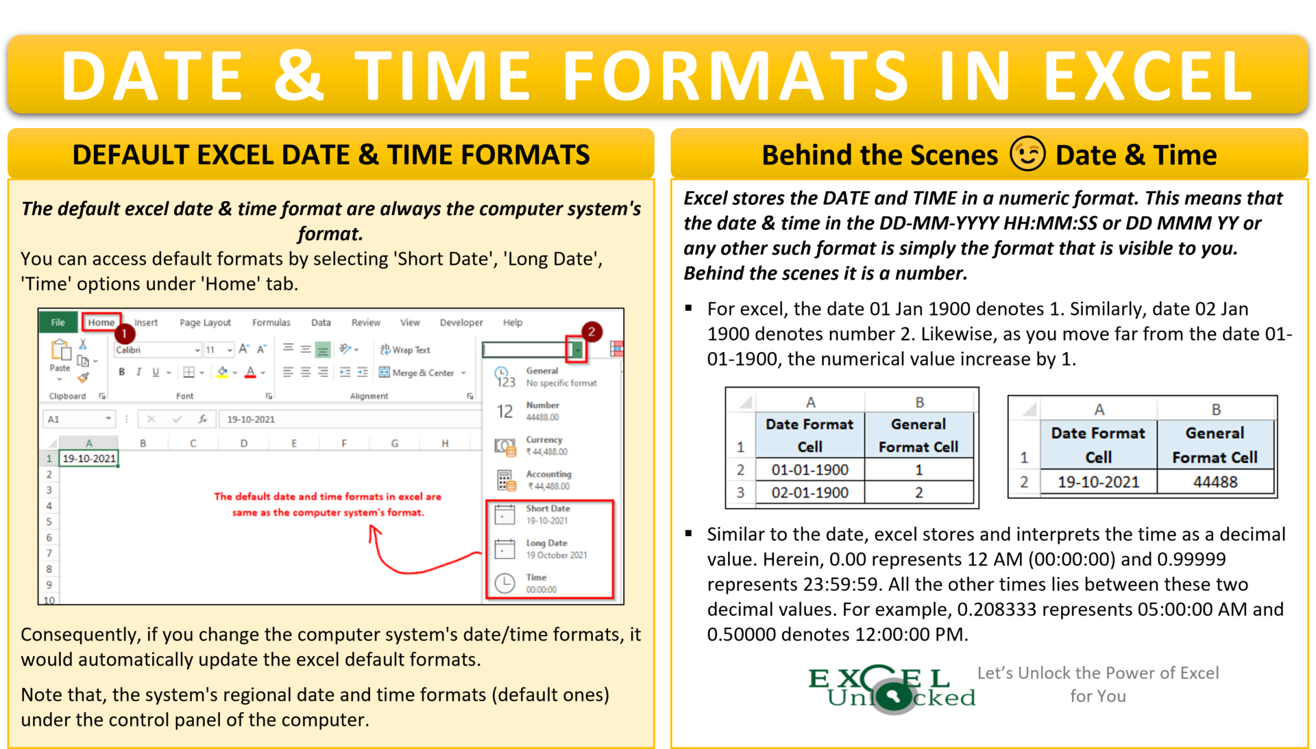 Date and Time Format in Excel