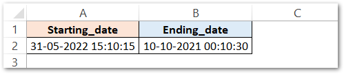TIME Formula of Excel finding the time and date difference raw dara