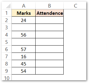 Using the ISBLANK Function with the IF formula Raw DATA