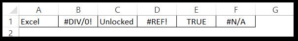 ISERROR Function of excel example 2 raw data