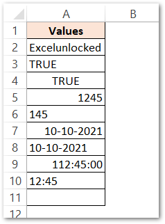 ISNONTEXT Function of Excel Passing arguments raw data
