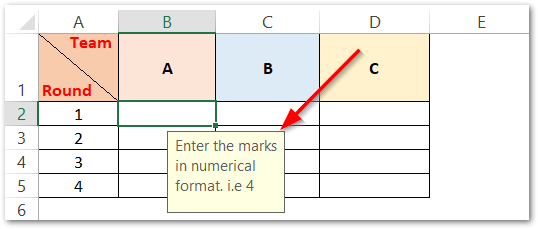 ISNONTEXT formula used to do data validation input message displayed