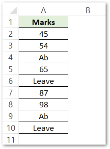 ISTEXT Formula of Excel counting the total number of cells containing text raw data